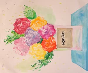 acuarela, flowers, and watercolor image