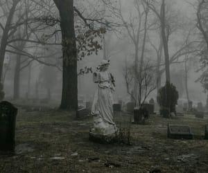 cemetery, grunge, and dark image