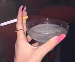 alcool, cigarette, and red image