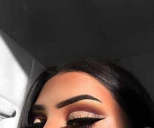 black, glitter, and makeup image