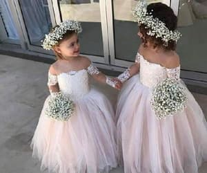 ivory flower girl dress and lace flower girl dress image