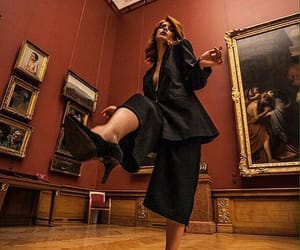 black suit, dancing, and museum image
