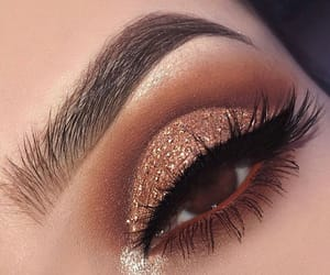 makeup, lashes, and glitter image