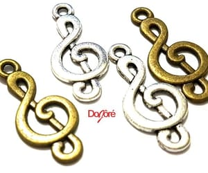 etsy, musical charms, and musical note charms image