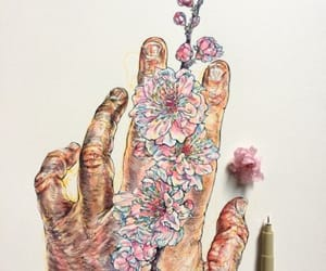 art, draw, and hand image