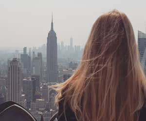 alone, blonde, and city image