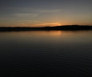 dim, water, and sunset image