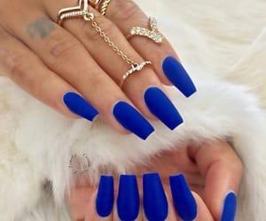 blue, fashion, and manicure image