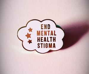 badge, mental health, and pink again image