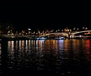 budapest, danube, and lights image