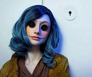 coraline, Halloween, and makeup image