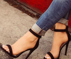 black, classic, and heels image