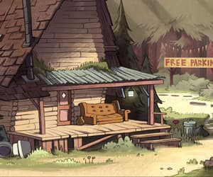 animation, forest, and house image