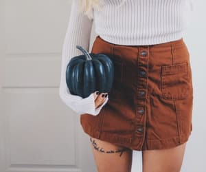 outfit, pumpkin, and fall image