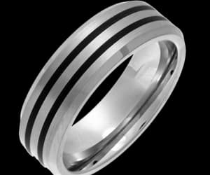 silver rings, gold signet rings, and titanium wedding rings image
