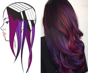 colored, dark, and hair image