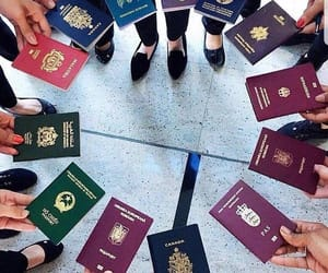 travel, passport, and outfit image