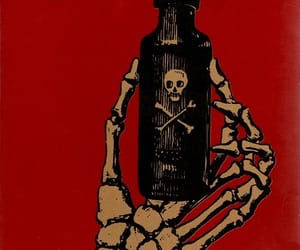 poison, red, and skeleton image