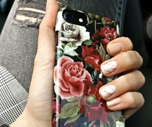 flowers, iphone, and marble image