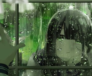 anime, girl, and green image
