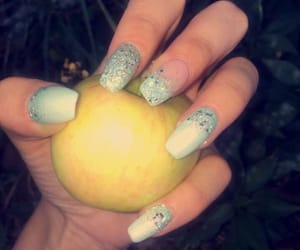 apple, gel, and nails image