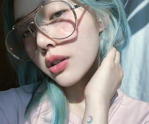 girl, blue, and korean image