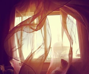 blowing, curtain, and wind image