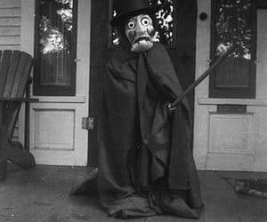 black and white, creepy, and halloween costume image