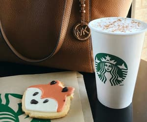 bag, coffee, and cookie image