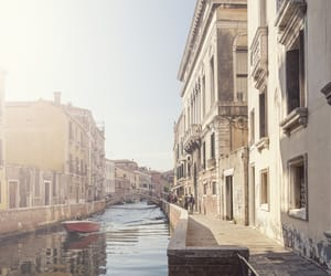 canal, city, and italy image