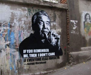 haruki murakami, street art, and remember me image