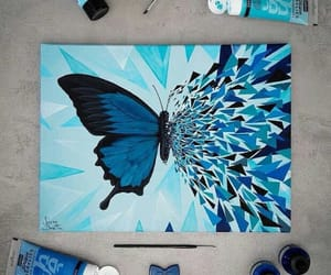 art, blue, and colors image