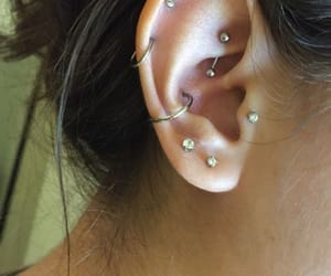 conch, Piercings, and ear image