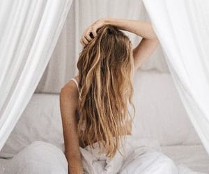 bed, style, and blonde image