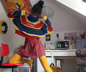 @gorillaagirll in the WEIRDO KNIT ❤️💛💙 👉 WWW.MINGALONDON.COM