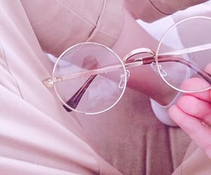 glasses, pink, and pastel image