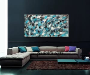 abstract art, etsy, and paintings on canvas image