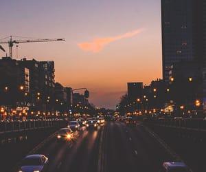city, car, and landscape image