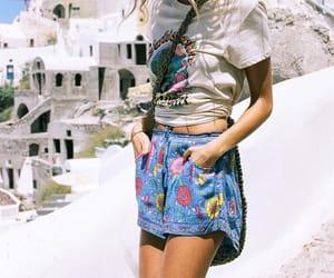 flower, boho chic, and boho fashion image