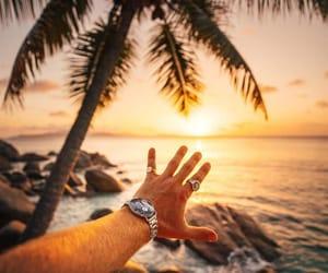 beach, menswear, and paradise image