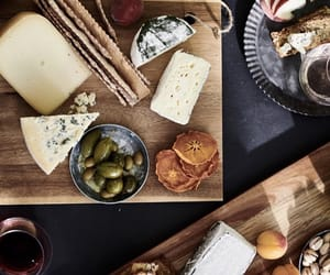 cheese, dinner, and olives image