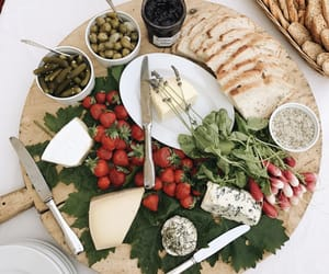 cheese, strawberry, and aperitifs image