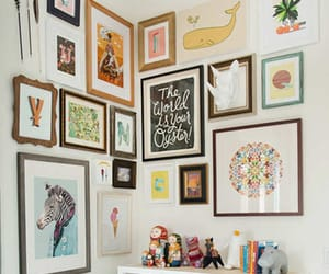 bedroom, home decor, and wall art image