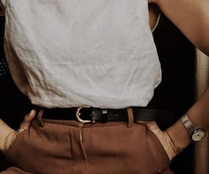 accessories, beige, and belt image