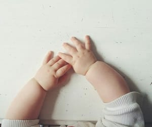 baby, hands, and cute image