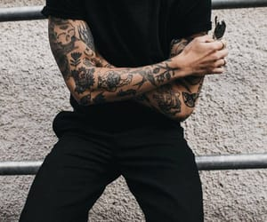 tattoo, black, and boy image