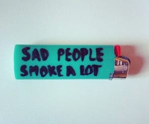 smoke, sad, and people image