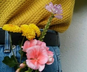 flowers, yellow, and grunge image