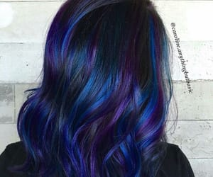 blue, colored, and hair image