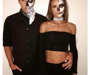 Halloween, makeup, and couple image